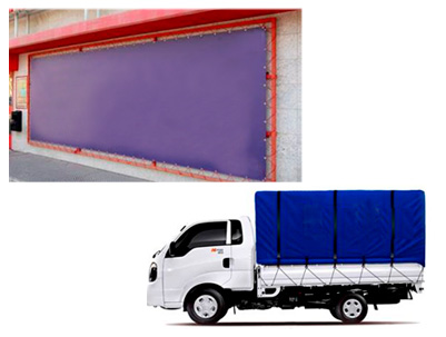 Advertising and truck tarpaulins