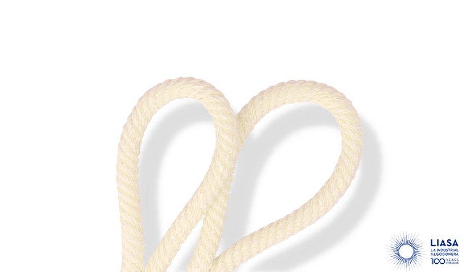 Cordón helicoidal de algodón 100% natural