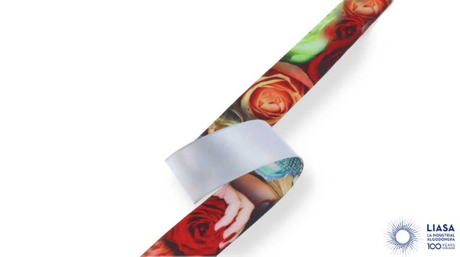 One side personalised sublimated polyester satin ribbon