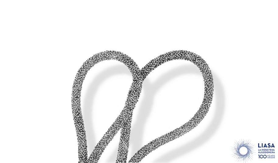 Cordón redondo trenzado fantasía con hilo metalizado