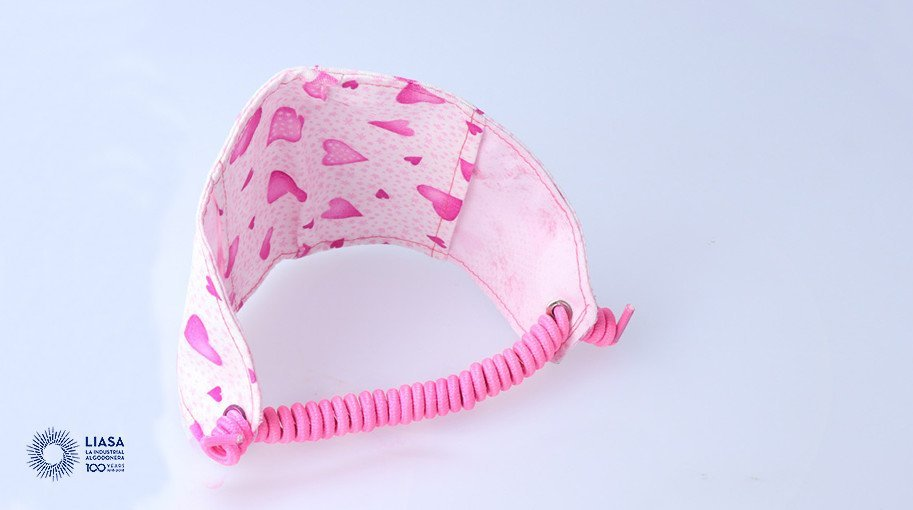 Spiral elastic cord for child health masks (LIAFLEX)