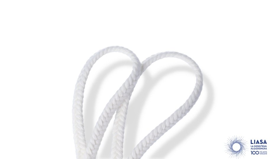 Flat cotton braided cords