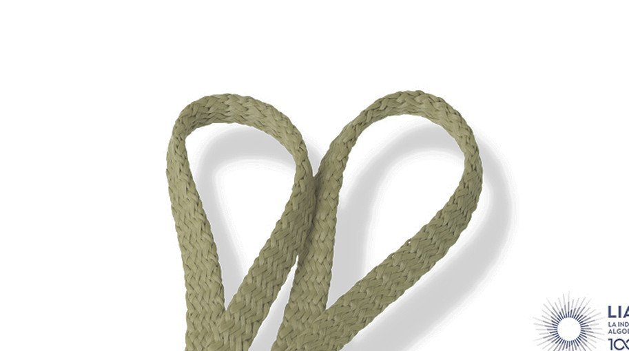 Cordones planos trenzado estándar de algodón 100% natural