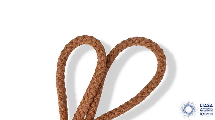 Cordones redondos trenzado clásico a cuadro de algodón
