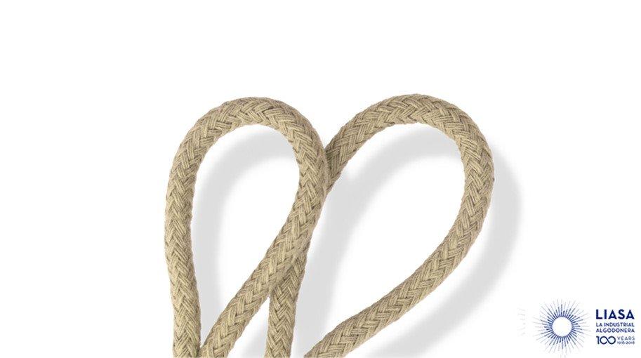 Cordones redondos trenzado clásico de algodón 100% natural