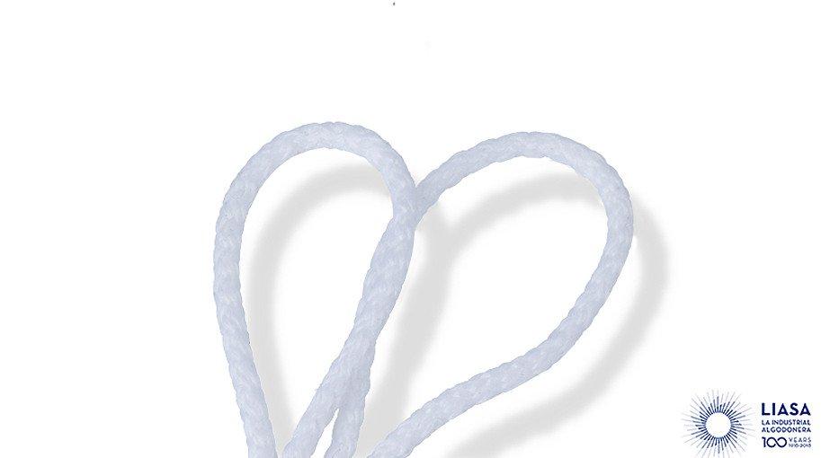 Cordones redondos trenzado estándar de poliéster para mascarillas