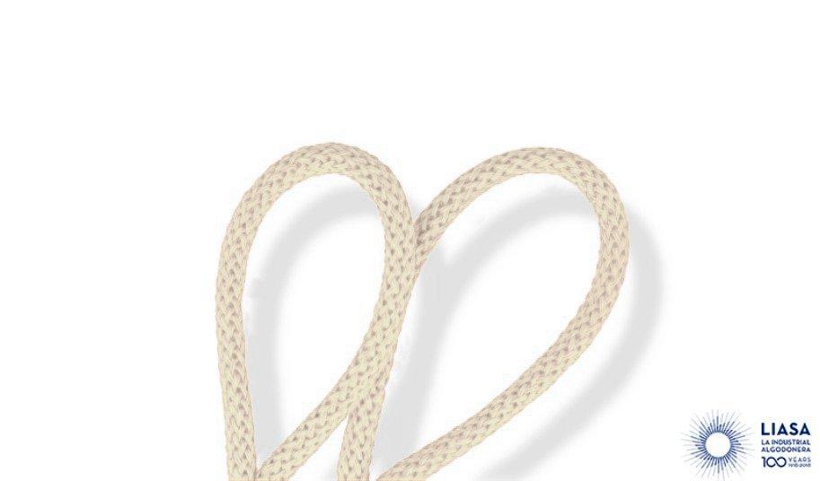 Cordones redondos trenzado luxe de algodón para macramé