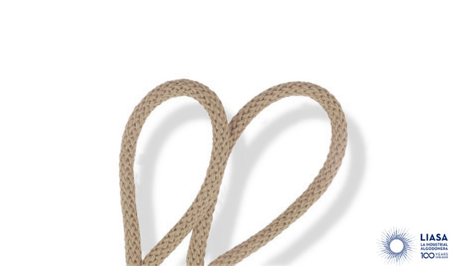 Cordones redondos trenzado luxe de algodón 100% natural para macramé