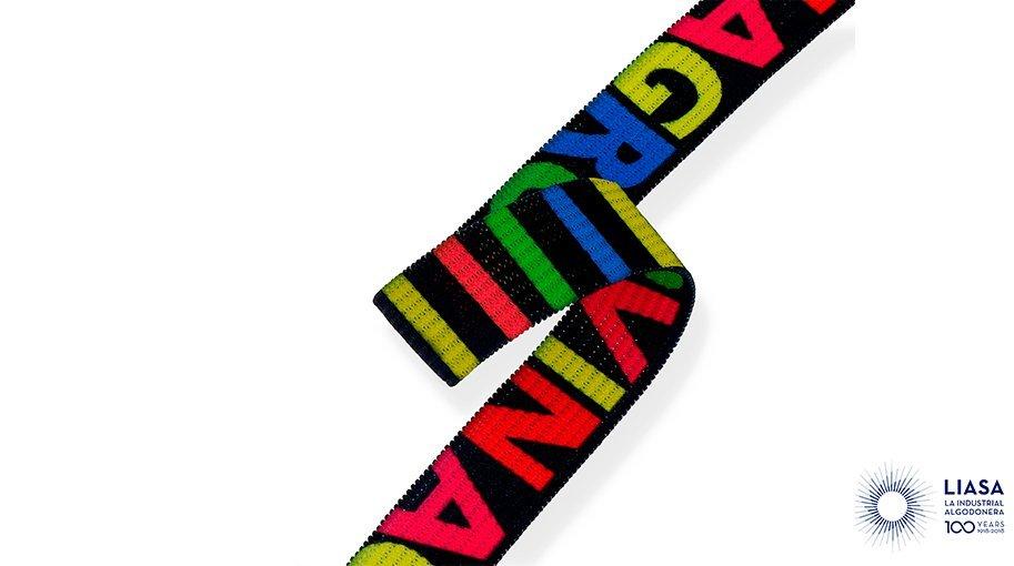 Gomma elastica crochet sublimata a due facce